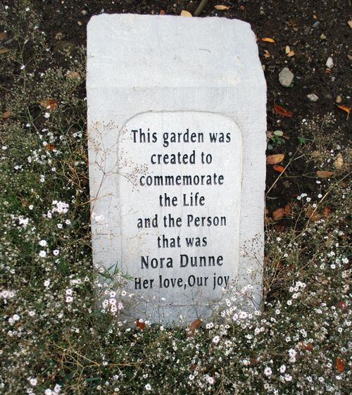 Commeration stone for Nora Dunne